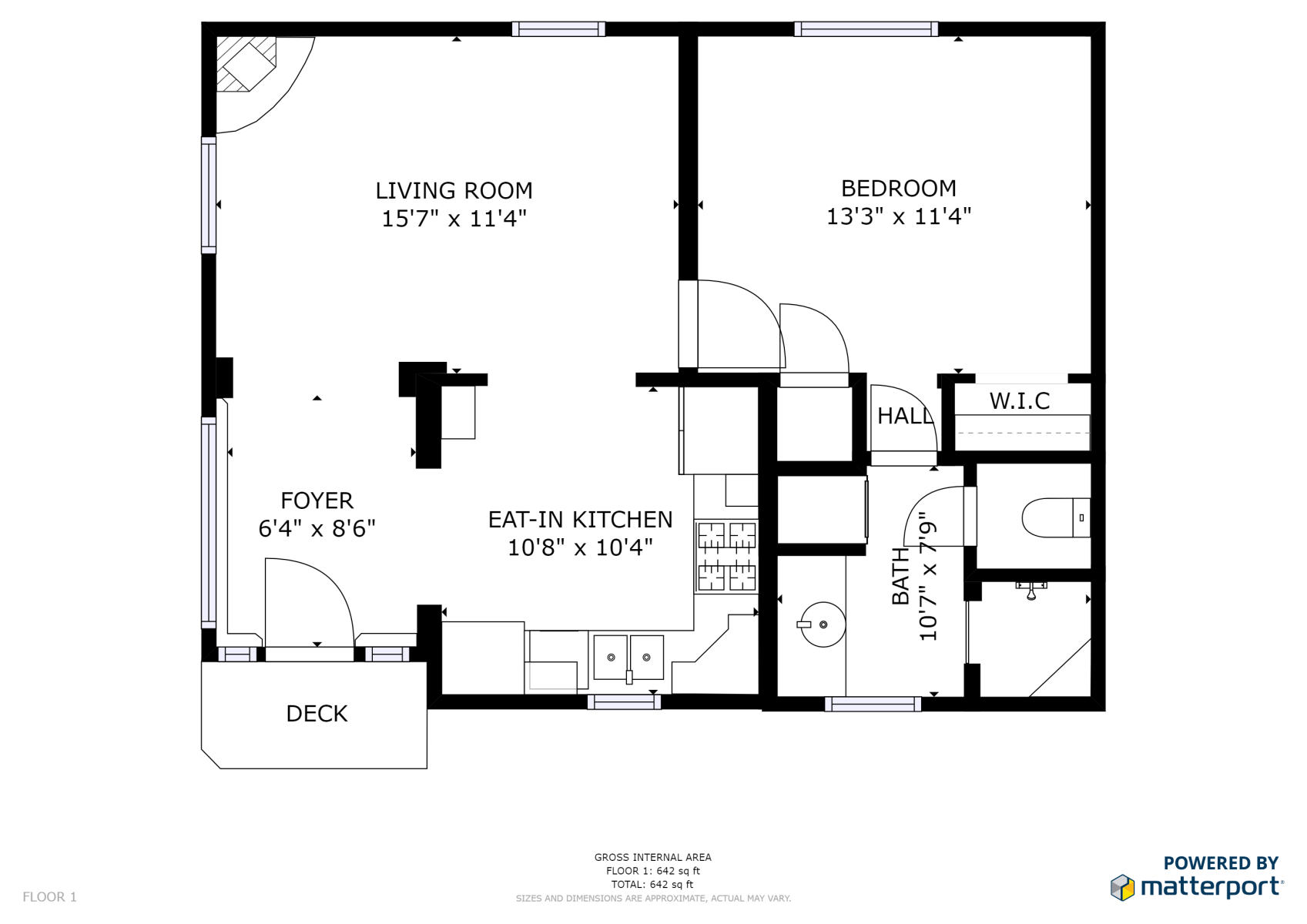 Floor Plan for Casita Madera - 1 Bed / 1 Bath