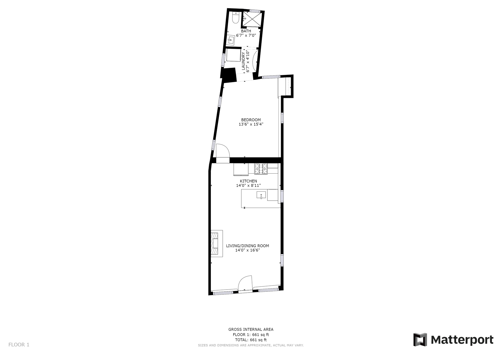 Floor Plan for Chama Casita: NEW Casita in The Downtown Railyard District just a short walk to the Plaza
