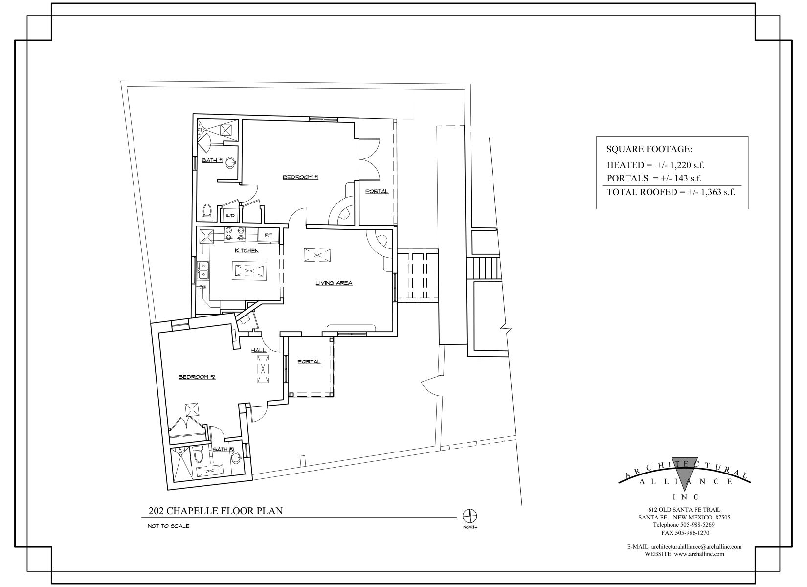 Floor Plan for Cactus Casita - 2 Bed, 2 Bath Casita