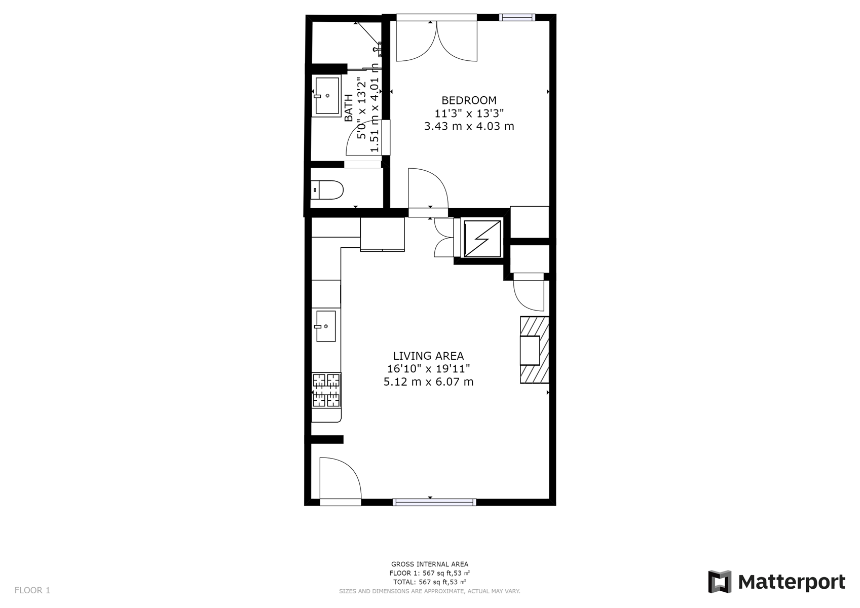 Floor Plan for Delgado C-2: FREE $50 Spa Credit just one block from Canyon Road!