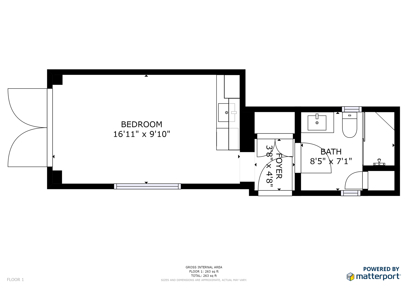 Floor Plan for Delgado E: FREE $50 Spa Credit just one block from Canyon Road!